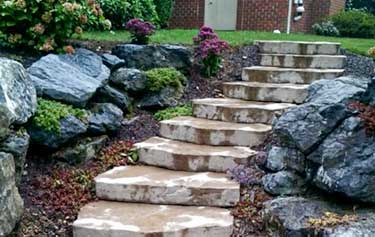 Steps, Natural Stone, Authentic Homescapes